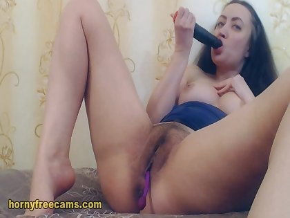 High Sexually Lewd And Lusty Brunette Show Off Live