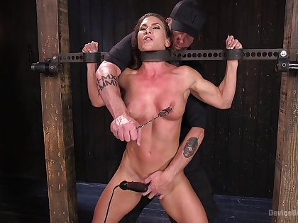 Extreme torture for Ariel X with double penetration from toys
