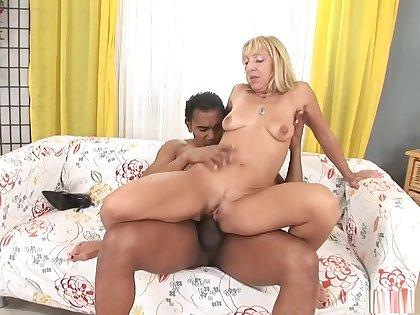 Incredible pornstar Kristina Dark in amazing blonde, interracial adult video
