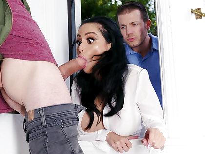 Lustful neighbors fucked hard lord it over wife