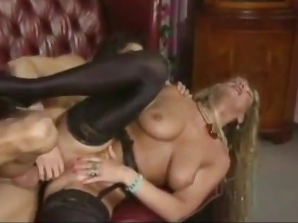 Long haired bazaar German MILF gets fucked hard by a young alms-man