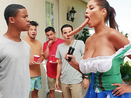 Hardest Oktoberfest group sex be incumbent on drunk wife