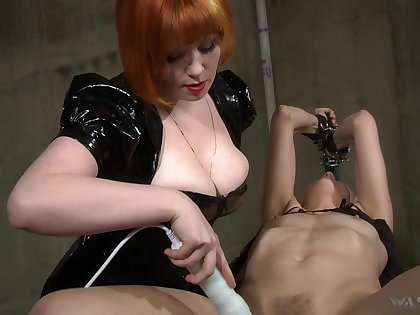 Hot girl friend uses her boobs to obtain herself slaves with the addition of she loves electro play