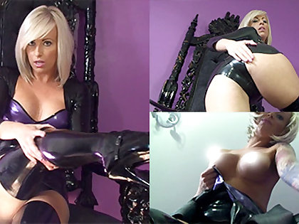 Zoe in Black Dress with an increment of Black Stockings - LatexHeavenVideo