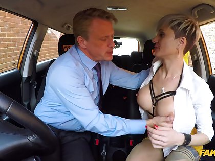 Horny of age with big tits, nasty fuck with the activating instructor