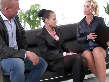 Piss increased by cum in a business meeting