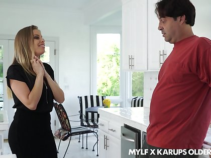 Flirty MILF Britney Amber seduces her married neighbor into fucking her