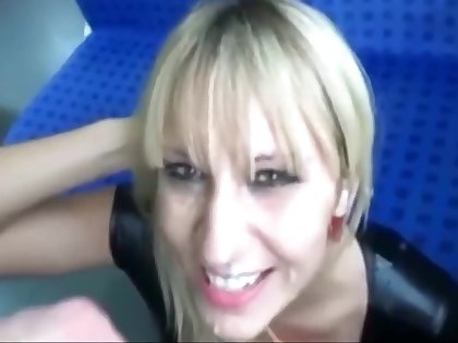 Sex All over Rub-down the Train With Pretty Milf. Cum Swallow