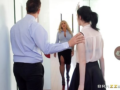 Thick of age fucked at one's disposal the office after stripping for the new guy