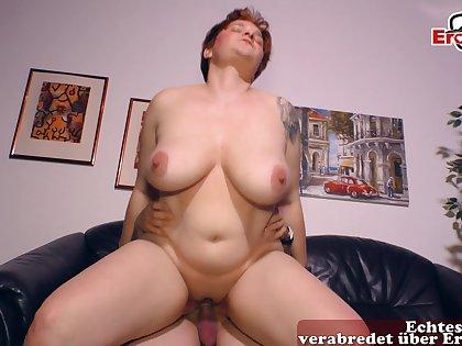 German chubby redhead housewife fuck