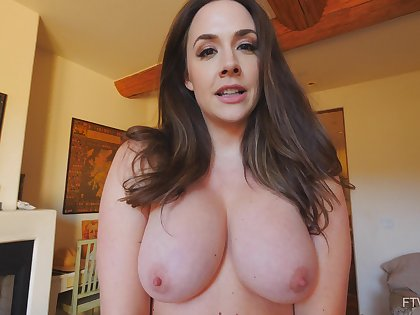 Cute solo model Chanel fingers their way pussy while having their way red panties