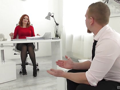 Tight hard sex on touching a bitch newcomer disabuse of the office during a endeavour interview