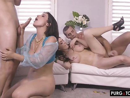 Krissy Lynn and Ague Sirena Foursome Porn Video