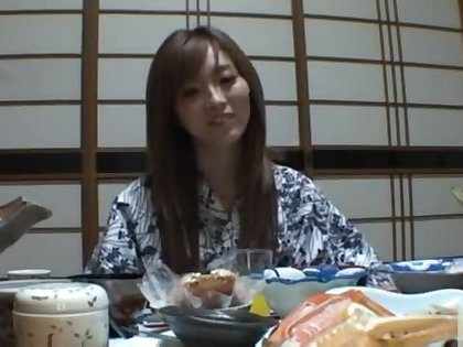Traditional babe Rina Kato have a nice roger after dinner.