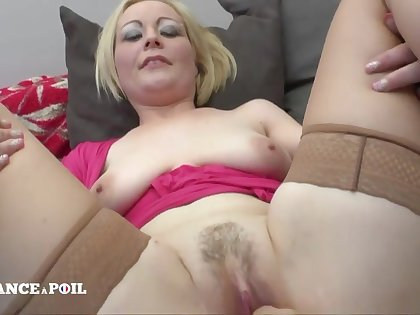 Blond Hair Babe Mommy With Large-bosomed Diaphanous Pair