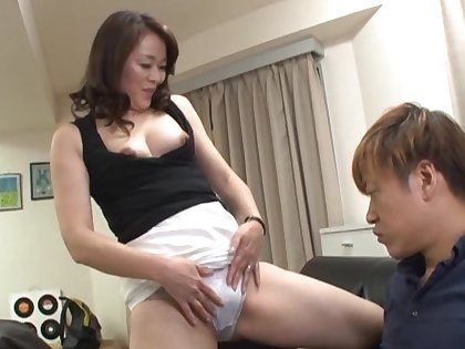 Ripsnorting Japan of age goes energetic mode on cock