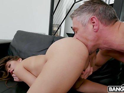 Bitch sucks dad's cock and fucks like a harlot