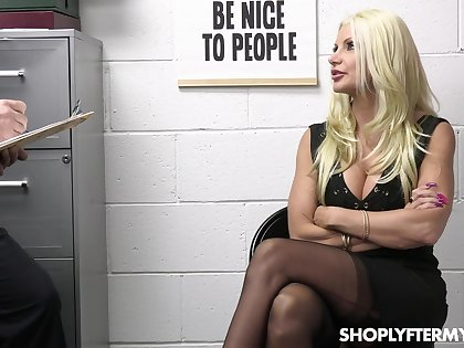 Hardcore fucking in the office with stunning blonde Ana Rose