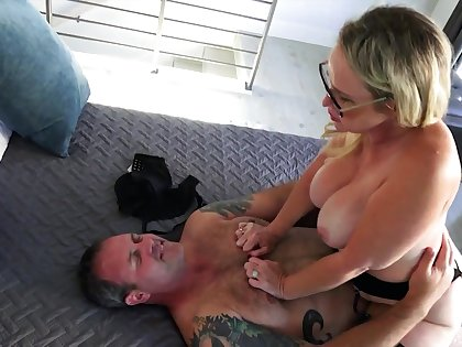 Marvelous big racked MILF is whore wife whose meaty pussy is worth doggy sex